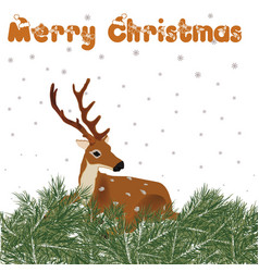deer with christmas decor vector image