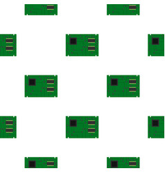 Electronic board pattern flat vector