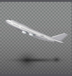 Flying airplane jet aircraft airliner side view vector