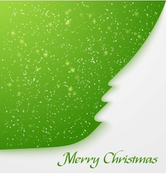 Green christmas tree applique vector image