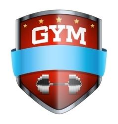 Gym shield badge vector