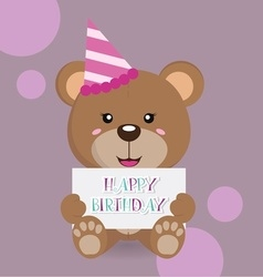 Happy birthday bear 3 copy vector
