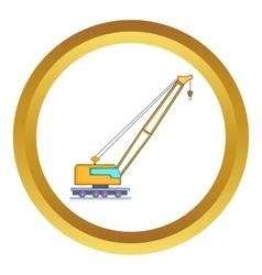 High crane icon vector image