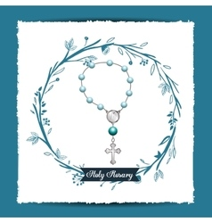 holy rosary design vector image
