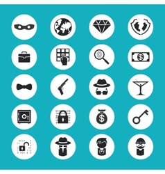 Illegal activities icons vector