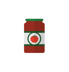 isolated tomato sauce flat icon ketchup vector image