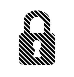 Lock button on white vector