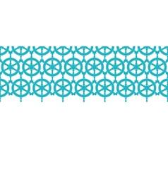Nautical ship wheels abstract blue horizontal vector