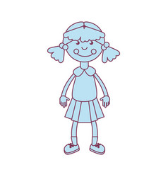 Ragdoll kids toy isolated icon vector
