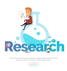 Research conceptual banner in flat design vector