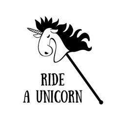 Ride a Unicorn vector image vector image