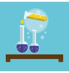 Science design Research concept Chemistry vector image