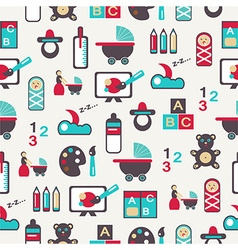 Seamless pattern with nursery equipment vector image vector image