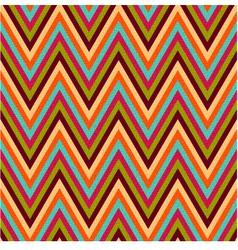 seamless retro zig zag texture vector image vector image