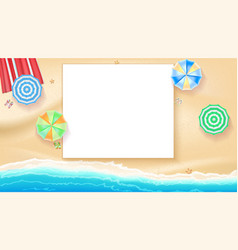 set of colorful beach umbrellas on the background vector image