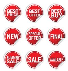 sticker best offer color vector image