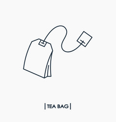 tea bag outline icon vector image vector image