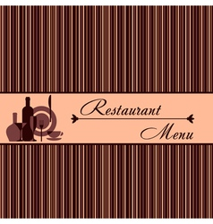 Template of restaurant menu vector image