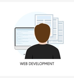 Web Development Icon Flat Design vector image