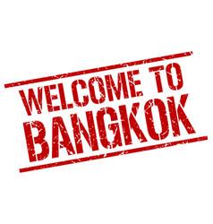 Welcome to bangkok stamp vector