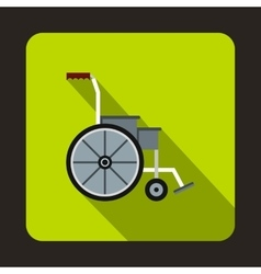 Wheelchair icon flat style vector image