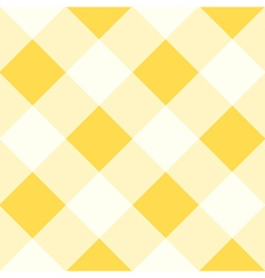 Yellow white diamond chessboard background vector