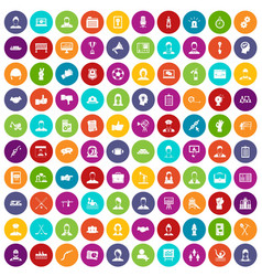 100 team work icons set color vector