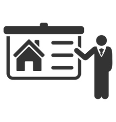 House presentation flat icon vector