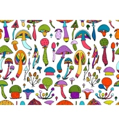 Mushrooms seamless pattern for your design vector