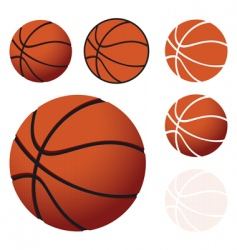 Basketballs vector