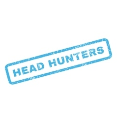 Head hunters rubber stamp vector
