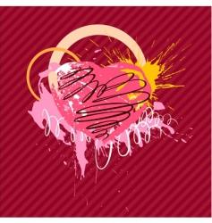 ringlet heart vector image