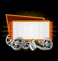 Movie marquee vector