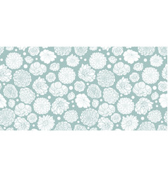 Silver grey spring flowers seamless repeat vector