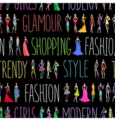 Fashion pattern text vector