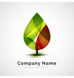 Leaf logo seasonal autumn concept vector