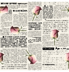 Newspaper with blur roses vector