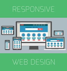 Set of flat design concepts concept for responsive vector