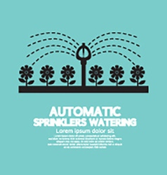 Automatic sprinklers watering vector