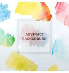 Abstract watercolor colorful background with vector