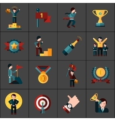 Success icons set vector