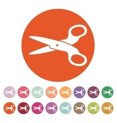 The scissors icon vector