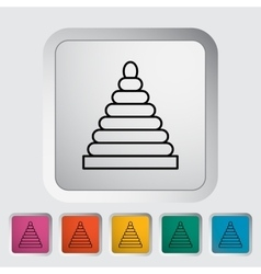 Pyramid toy vector