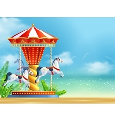 Realistic carousel background vector