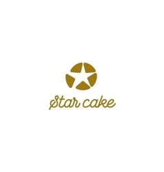 Isolated logo colorful cupcake sign cake vector