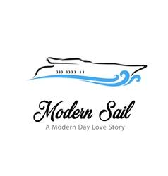 Modern sail vector