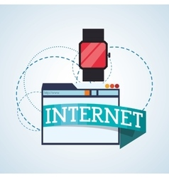 Internet design online icon colorful vector