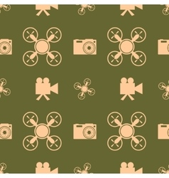 Drone quadrocopter icon digital camera symbol vector