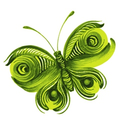 beautiful green butterfly vector image vector image