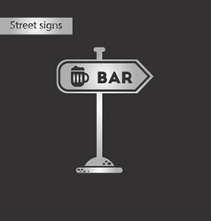 black and white style icon sign of bar vector image vector image